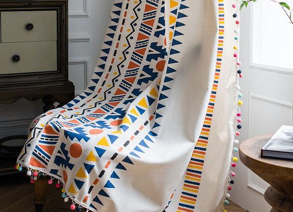 American Style Curtain Cotton Linen Bohemian