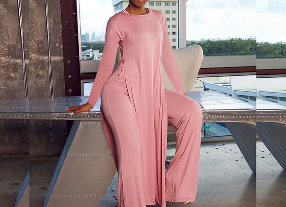 Casual Solid Loose Loungewear Matching Sets for Women