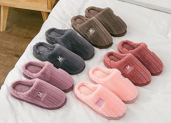 Autumn Winter Men Women Winter Home Slippers Non-Slip Soft