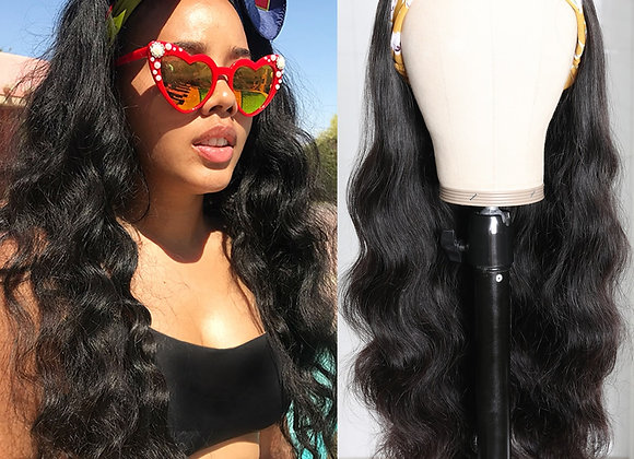 "Malaysian Body Wave Headband Wig 14""-26"" No Glue Human Hair"