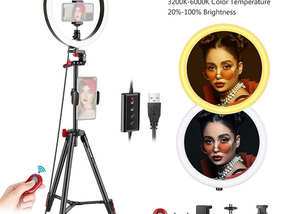 Neewer 10-Inch LED Ring Light Selfie Ring Light With Tripod