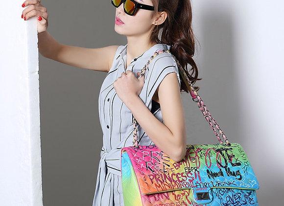 Amberler Luxury Designer  Leather Women Shoulder Bag