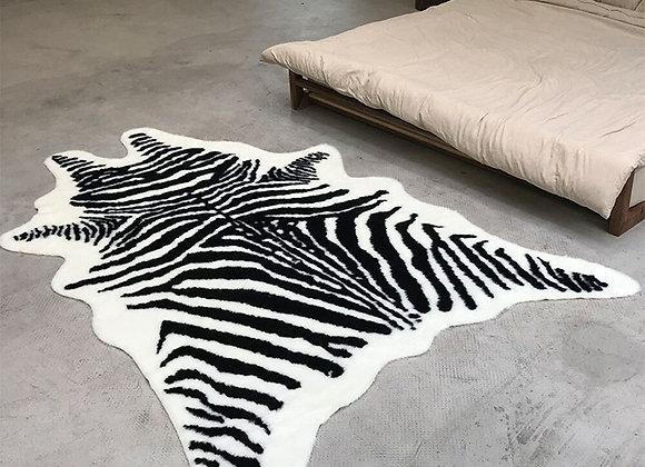 New Zebra Animal Printed Carpet Velvet Imitation Leather Rugs