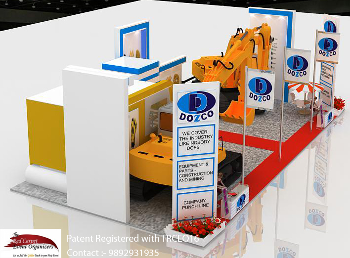 Stall  right  view  Design & Fabrication by The Red Carpet Event Organizers Call 9892931935