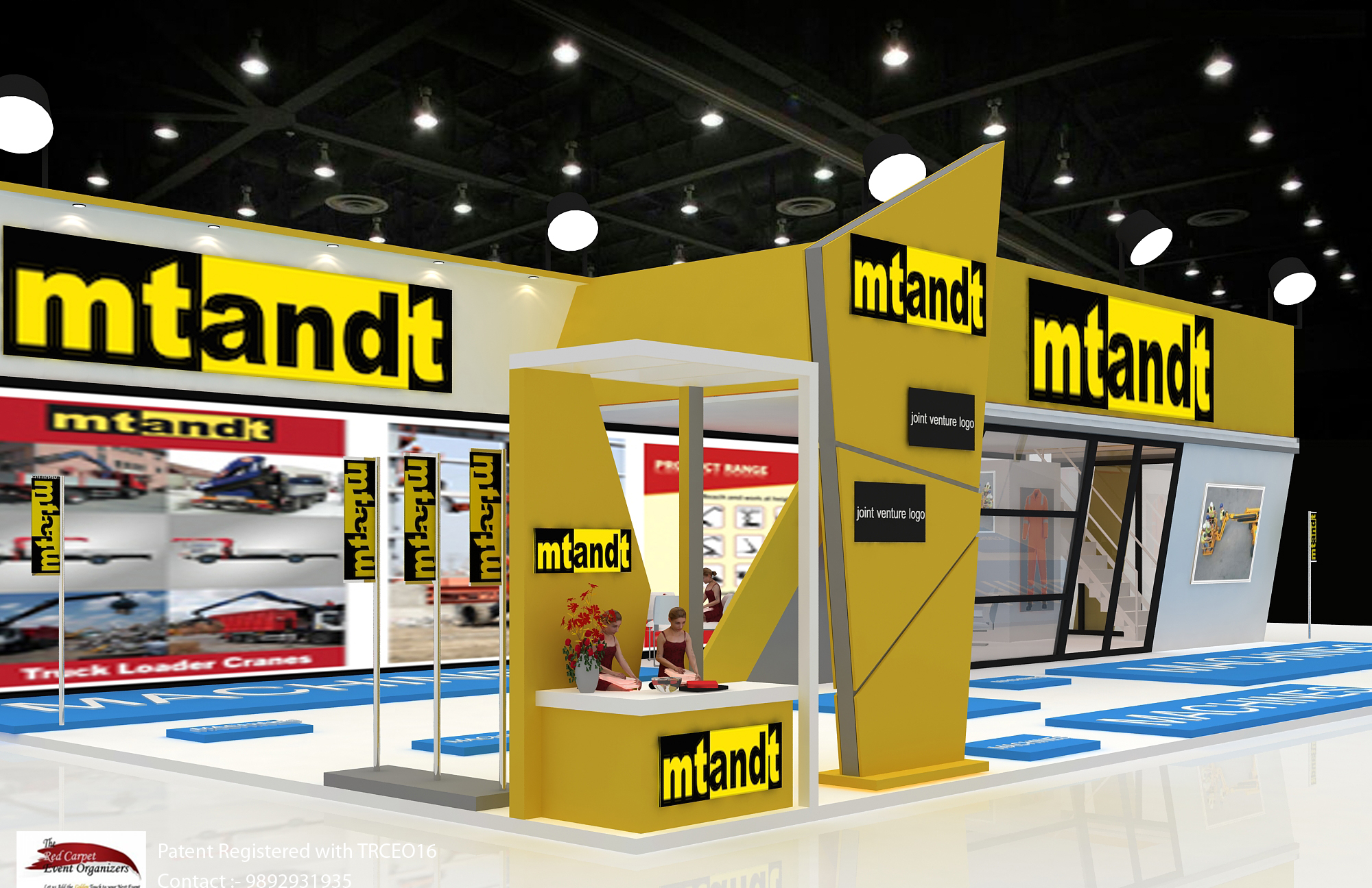 Stall reception view B C India Stall Design & Fabrication by The Red Carpet Event Organizers contact
