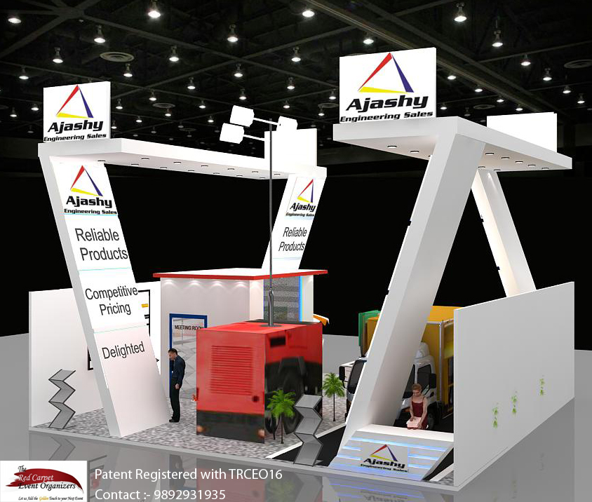 Stall designs left view Exhibition Stand Design by The Red Carpet Event Organizers 9892931935