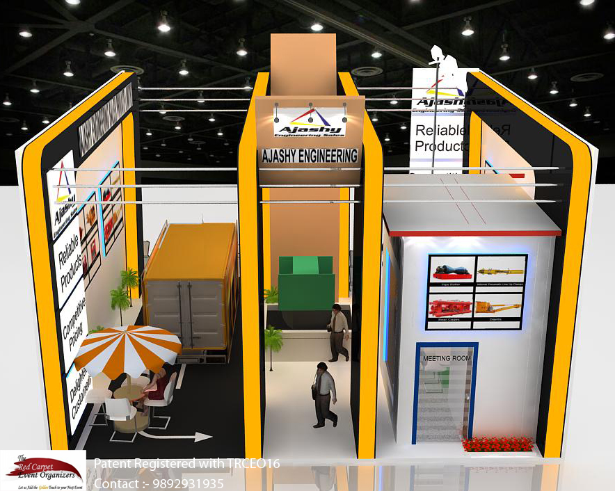 Stall designs backside bird eye view Exhibition Stand Design & Fabrication  by The Red Carpet Event