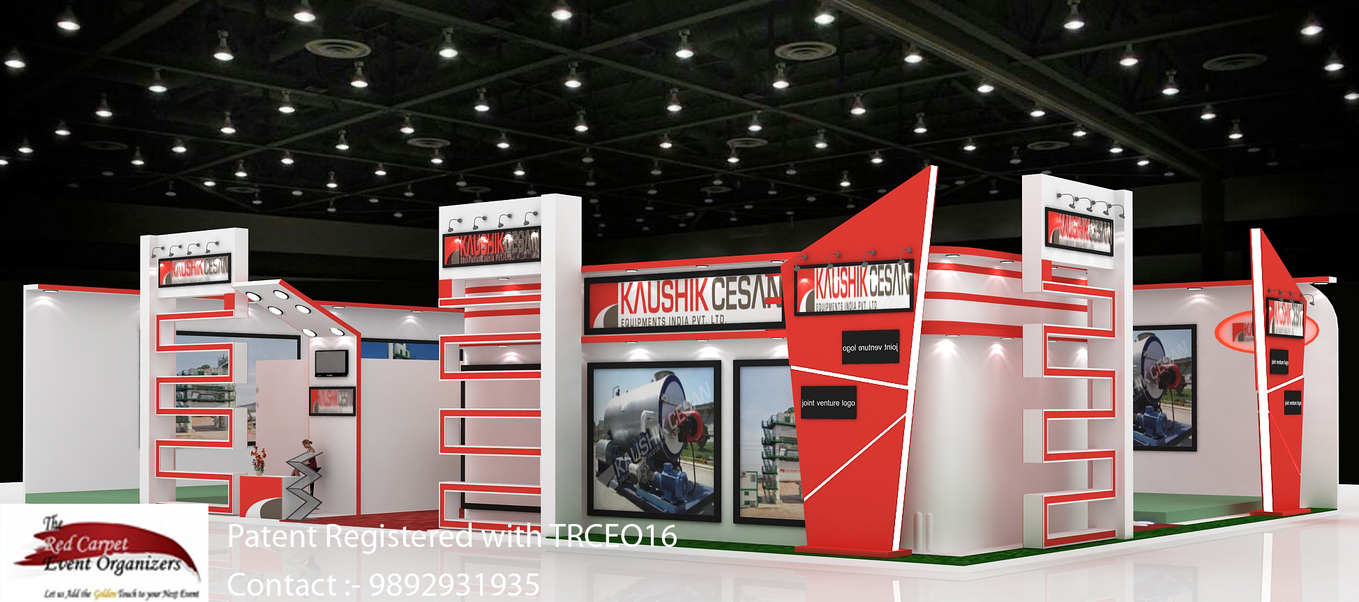 4_stall designs left view  B C India Stall Design & Fabrication by The Red Carpet Event Organizers c