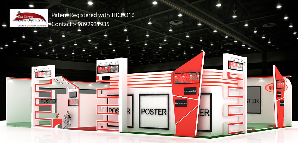 Stall designs left view B C India Stall Design & Fabrication by The Red Carpet Event Organizers cont