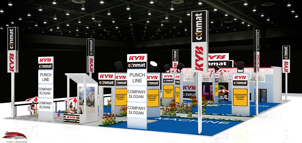 Stall designs left view Bauma Stall Design & Fabrication by The Red Carpet Event Organizers contact