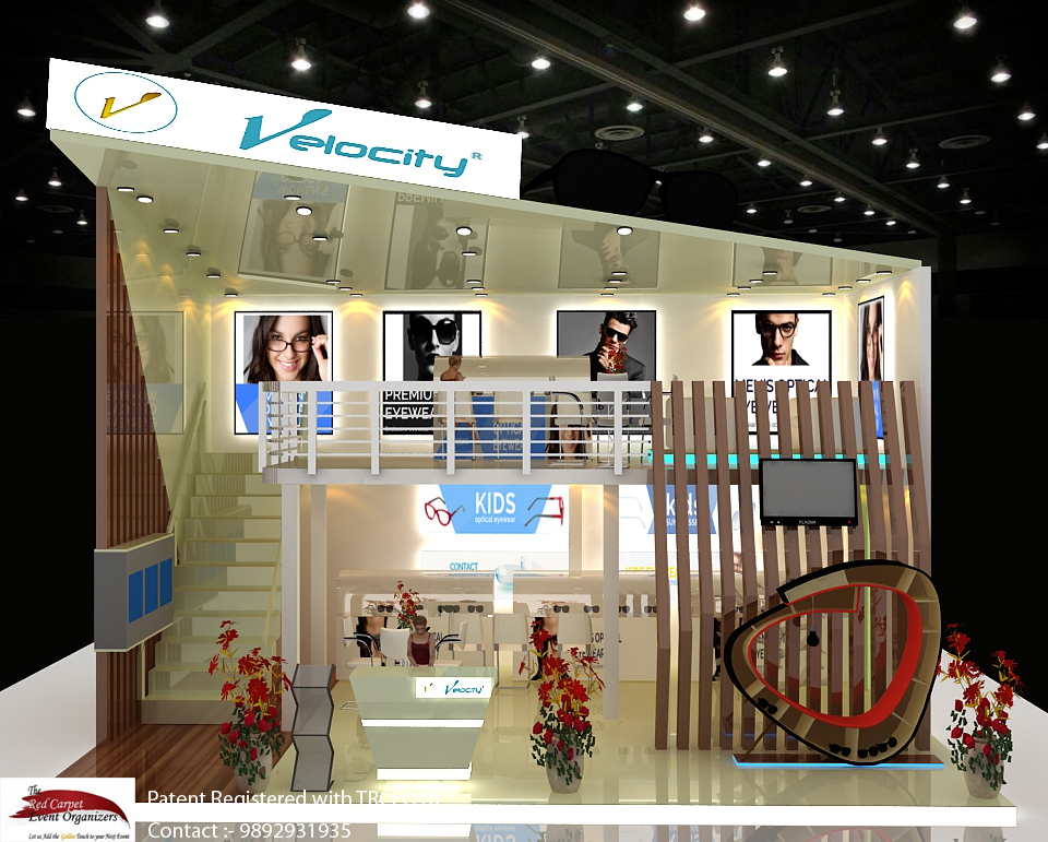 Stall front view Exhibition stall Design & Fabrication by The Red Carpet Event Organizers 9892931935