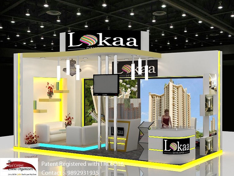 stall right view Exhibition Stall  Design & Fabrication by The Red Carpet Event Organizers 989293193