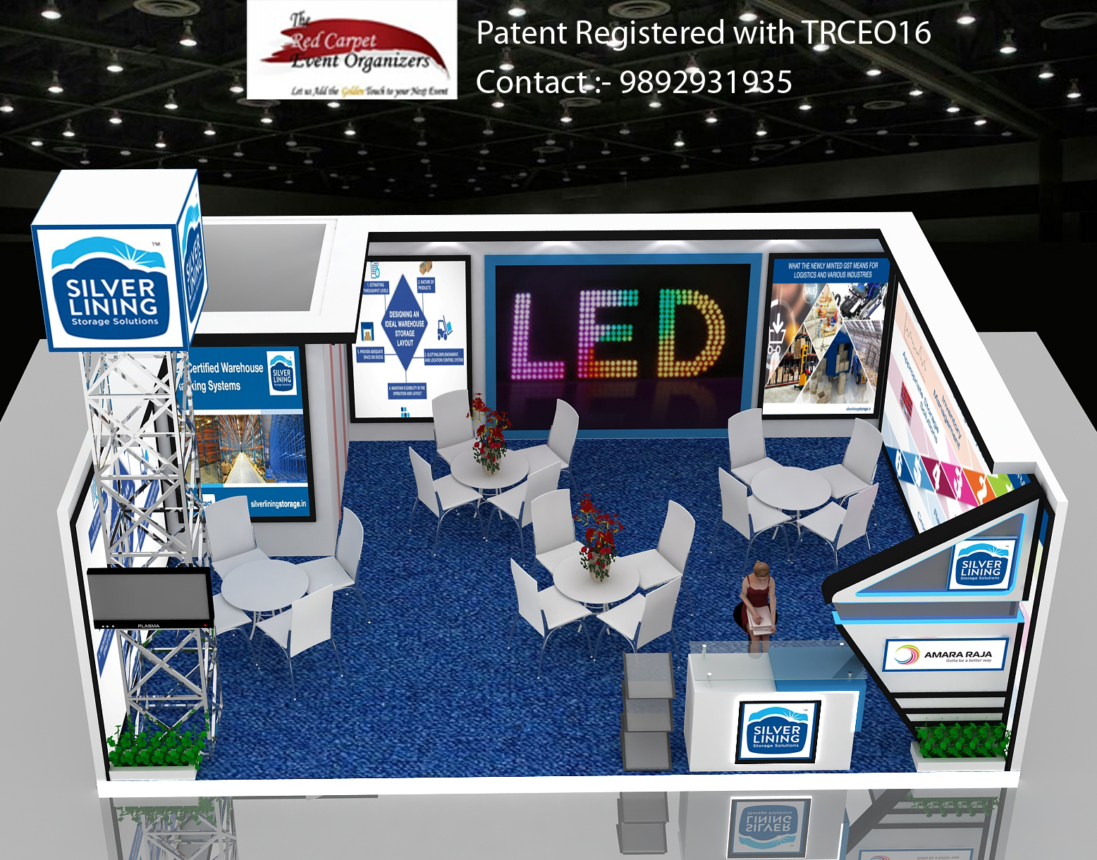 2_Stall designs bird eye view Exhibition Stall Design & Fabrication by The Red Carpet Event Organize