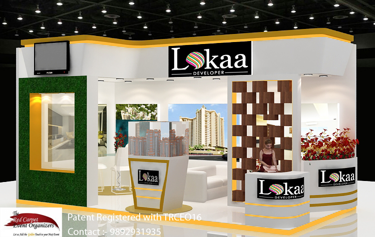 Stall left  view Exhibition Stall  Design by The Red Carpet Event Organizers 9892931935