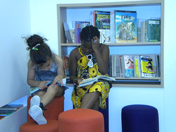 children at the library