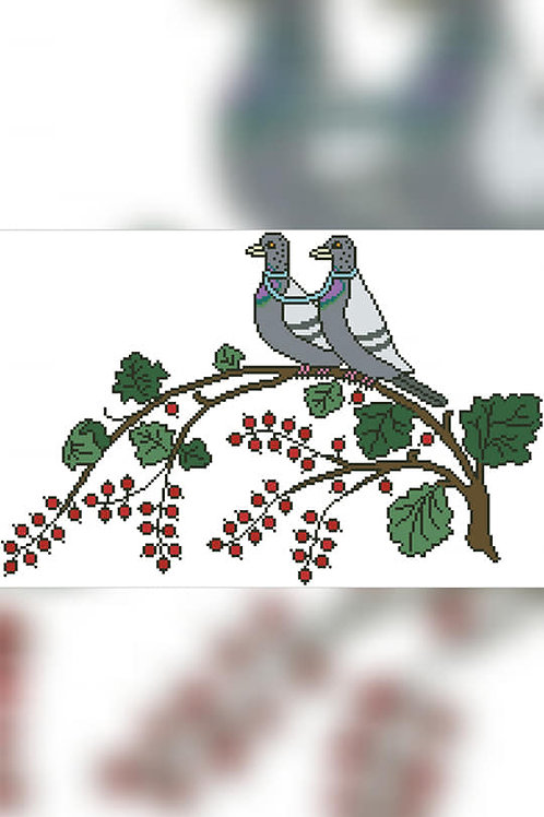 Doves And Berries - Arelate Studio