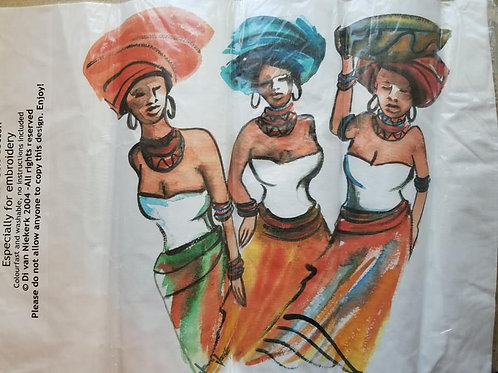 3 Ladies (Cotton Canvas)