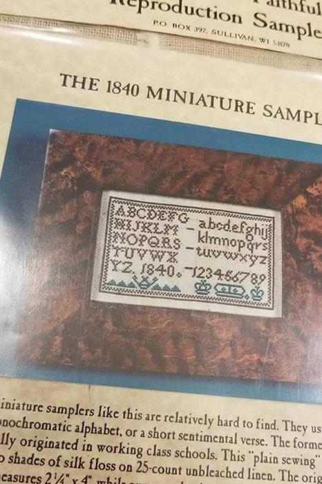 The 1840 Miniature Sampler