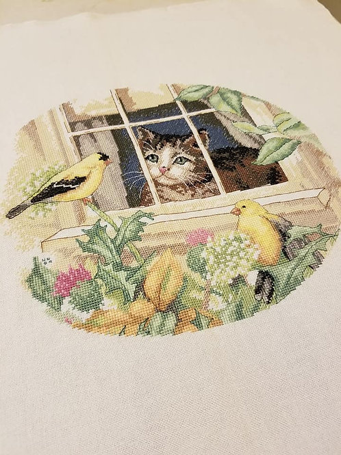 Charming Birdwatcher (Dimensions) - Finished Works