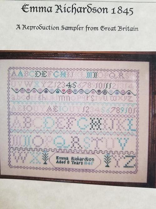 Emma Richardson 1845 - Samplers Revisited