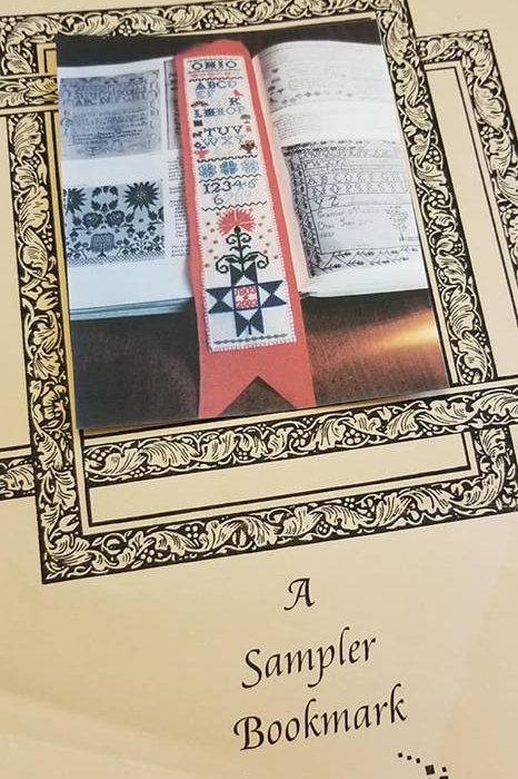 A Sampler Bookmark - Forget-Me-Nots