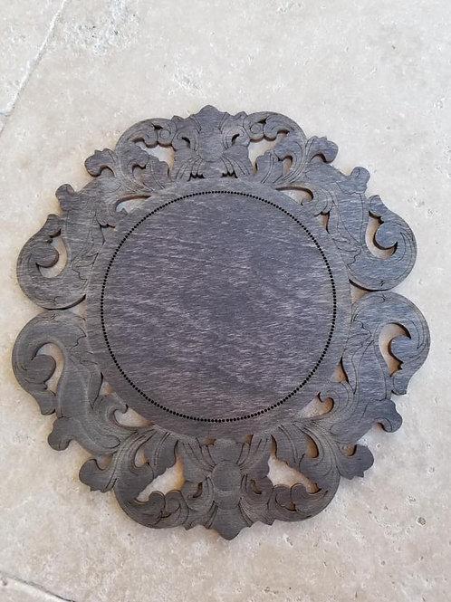 """""""Carved Mirror"""" Frame - Primitive & Wood"""