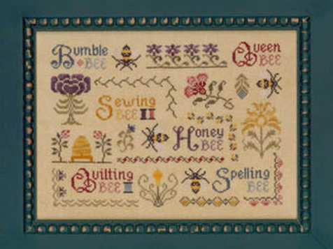 *Antique Bee Sampler - Elizabeth's Needlework Designs