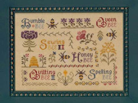 *Antique Bee Sampler - Elizabeth's Needlework Designs