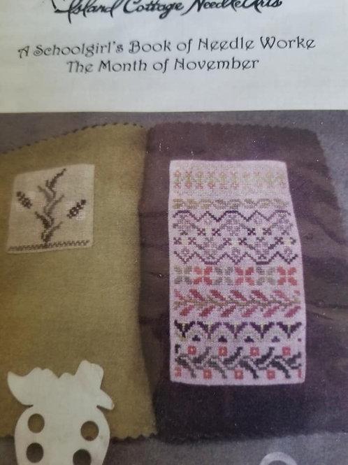 A Schoolgirl's Book of Needleworke (November) - Island Cottage Needlearts