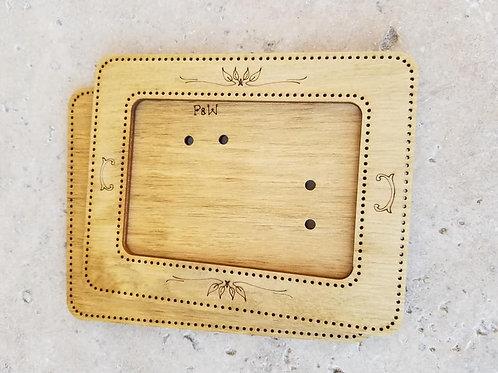 Rectangle Frame (4x2.75) - Primitive & Wood