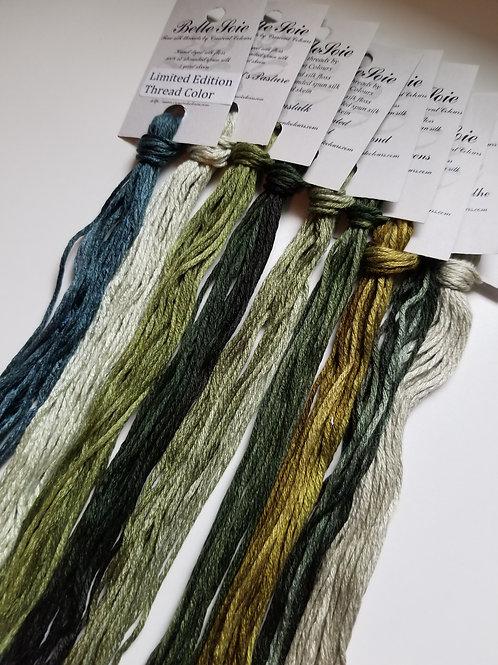 Belle Soie (Set of 9) - Greens #2