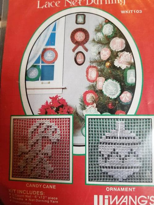 *Lace Net Darning: Christmas - $2 Chart