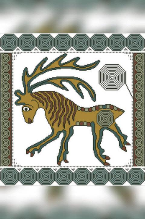 Swirly Deer - Arelate Studio
