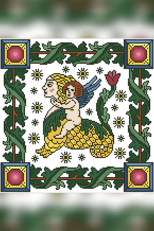 Putto Riding A Mermaid - Arelate Studio
