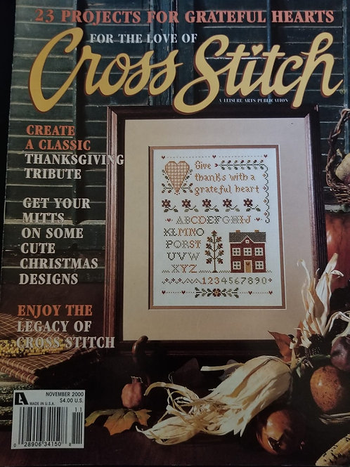 For The Love of Cross Stitch - November 2000
