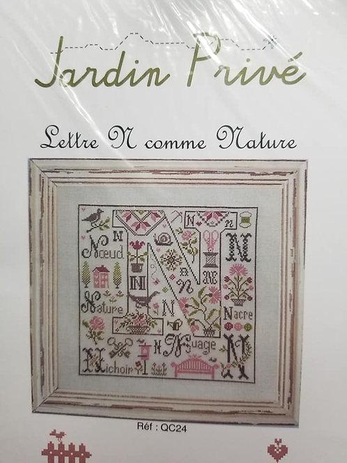 Letter N - Jardin Prive