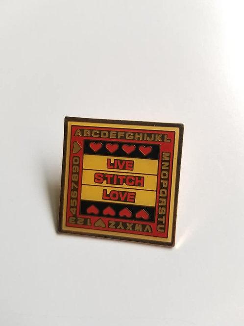 Live Stitch Love pin