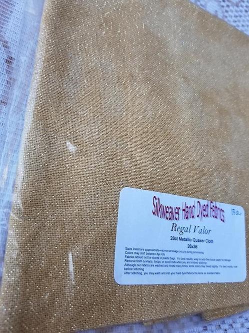 28 count Metallic Quaker Cloth (Regal Valor) - SilkWeaver