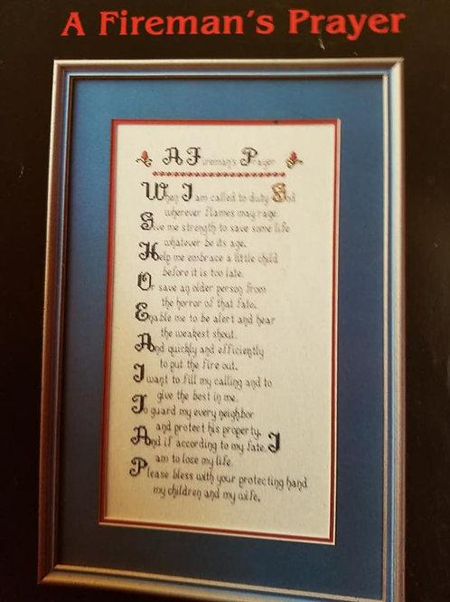A Fireman's Prayer - $2 Chart