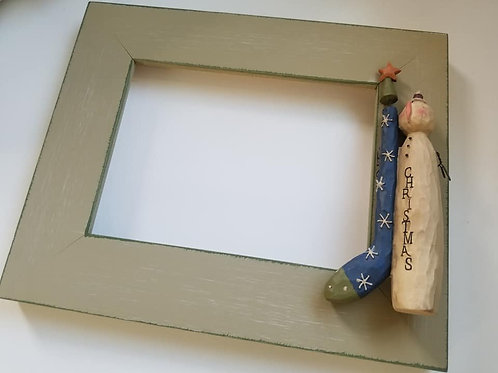 Snowman and Stocking Frame