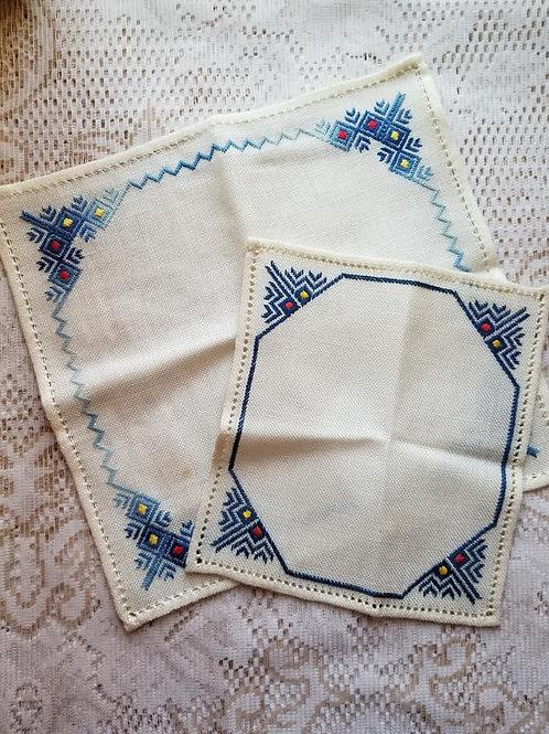 Handmade Blue Pieces (Set of 2)