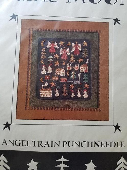 Angel Train Punchneedle - Prairie Moon