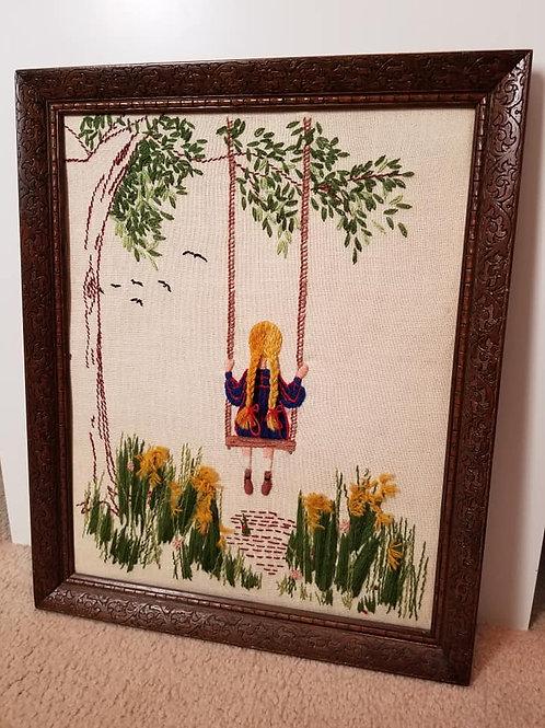 Girl Swinging Piece