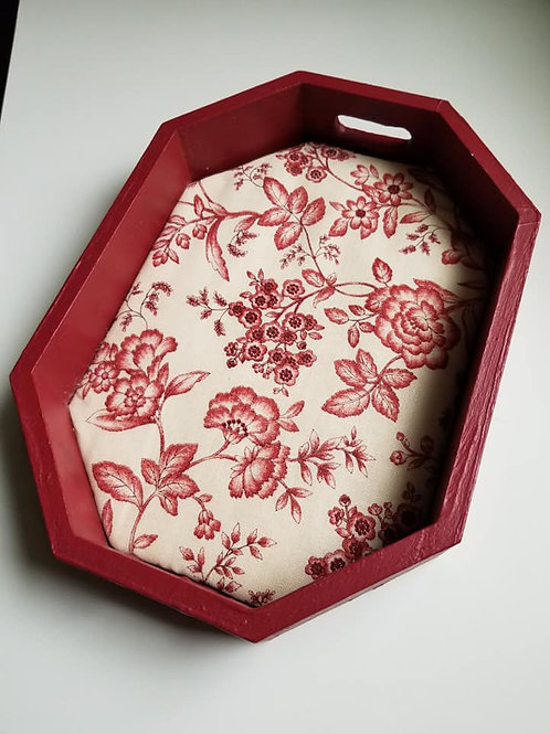 Red Wooden Tray - FINISHED WORKS