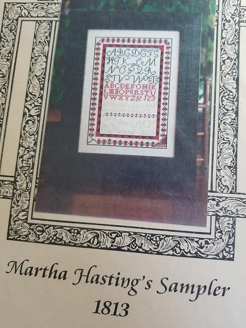 Martha Hasting's Sampler 1813 - Forget Me Nots