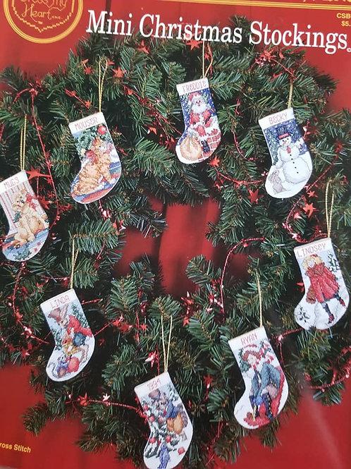 Mini Christmas Stockings - $2 Chart