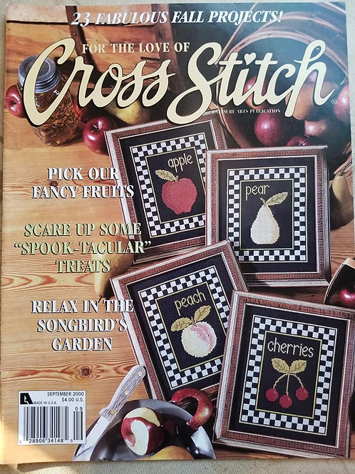 For The Love of Cross Stitch - September 2000