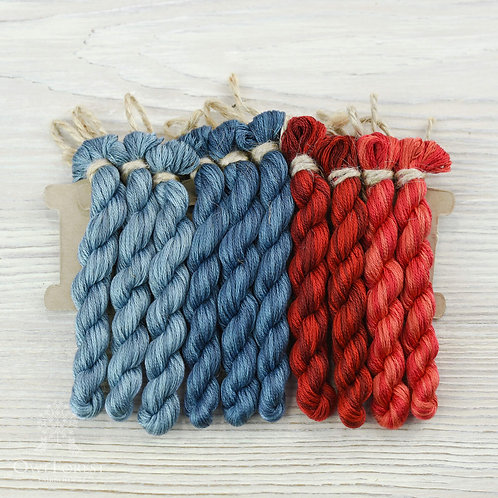 """Hand-Dyed Threads for """"Southern Sampler"""""""