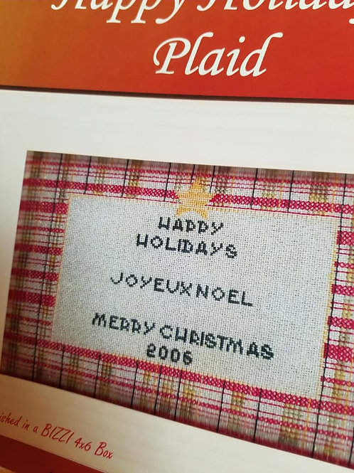*Happy Holidays Plaid - $2 Chart