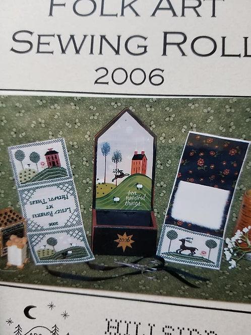 Folk Art Sewing Roll (2006) - Hillside Samplings